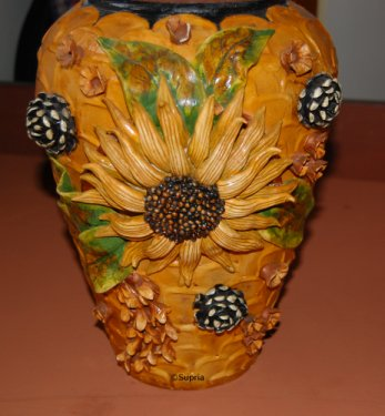 How to do Ceramic Work on Pot