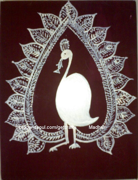 peacock pictures for glass painting. Warli Painting - Peacock
