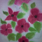 Wet and Wet method – Fabric painting