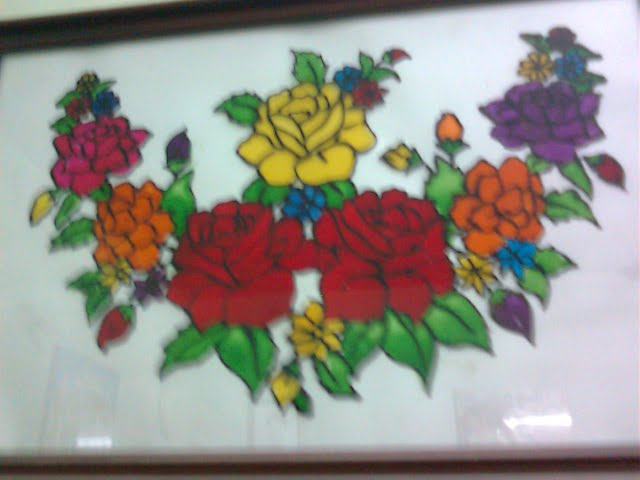 flower designs for glass painting. Glass Painting