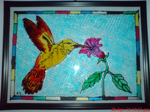 glass paintings of birds. glass paintings of irds.
