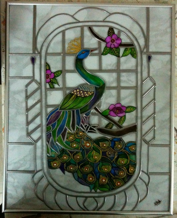 How to do Glass Painting Using lead strip