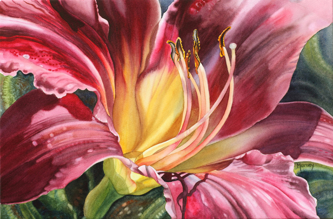 Inspiring Thursdays – Watercolour Flower Paintings by Marney Ward