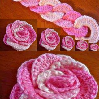 DIY Crochet Rose