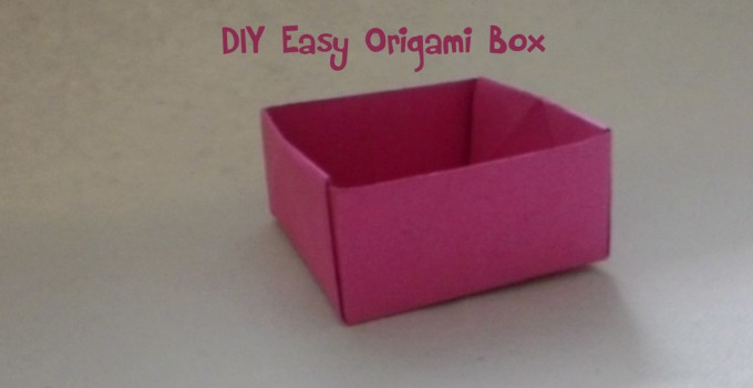 DIY Origami Box Video