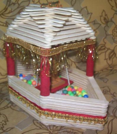 How To Make Popsicle Stick Beautiful SHIP With Lord Krishna In It